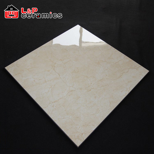 Cream marfil full polished glazed porcelain floor tile