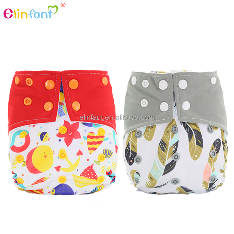 Elinfant baby one size fits all pocket cloth diaper with microfiber insert