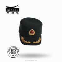 Chinese military uniform army baseball caps for plain cloth with customized badge