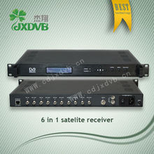 6 routes LNB FTA digital satellite receiver, digital TV broadcast
