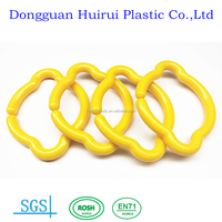 Accessory toy links safety baby teether ring links craft plastic baby toy links