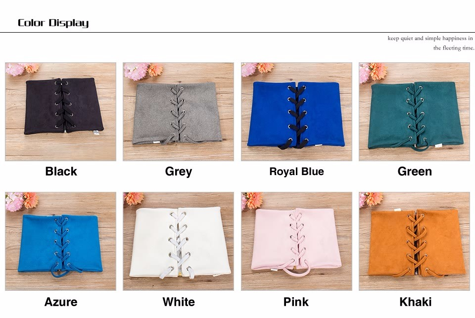 Various Color For Choosing Custom Ladies Fashion Style Wide Corset Belt
