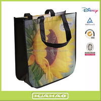 100% polypropylene laminated non woven shopping tote bag