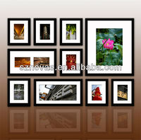 Eco-friendly Pine Wood Wall Photo Frames Set