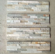 Indoor culture stone panel/natual beige slate Wall ledger Veneer stone tile