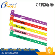 GJ-8070 direct from factory plastic material full color printing medical alert id bracelet