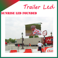 outdoor mobile advertising trailer vehicle led display ph10mm Outdoor mobile digital advertising truck LED display