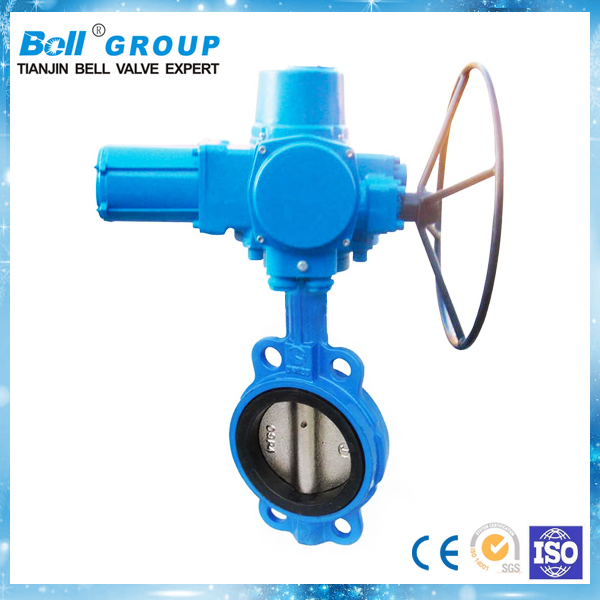 Made in china DN200 PN1.0 stainless steel electric rubber seal butterfly valve for sea water treatment