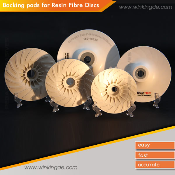 PEGATEC Coated Fiber Disc Angle Grinder Backup Polishing Pads & Holder