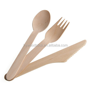 140mm 160mm printed/hot stamped wooden spoon disposable folding spoon bio