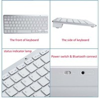 2.4Ghz Wireless Bluetooth Keyboard Slim for iphone iPad Samsung Galaxy Tablet PC Laptop PC
