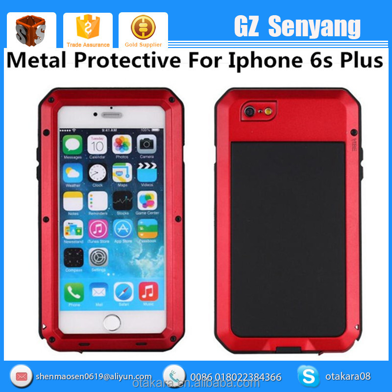 Heavy Duty Metal Bumper Phone Case For Iphone 6 Waterproof Shockproof Phone Case