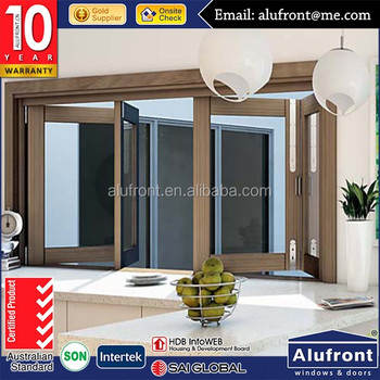 Thermal Break Aluminum folding Window and Door Grill with Ivory for residential house