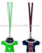neoprene mobile phone holder in shirt shape with lanyard