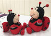 "10"" lovely plush ladybug baby toy soft doll with wings"