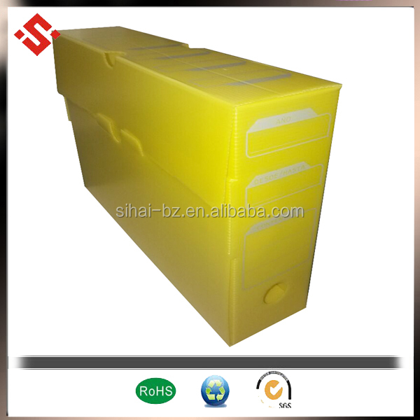 pp corrugated box file