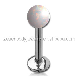 Opal Top LABRET MONROE LIP Piercing Jewelry