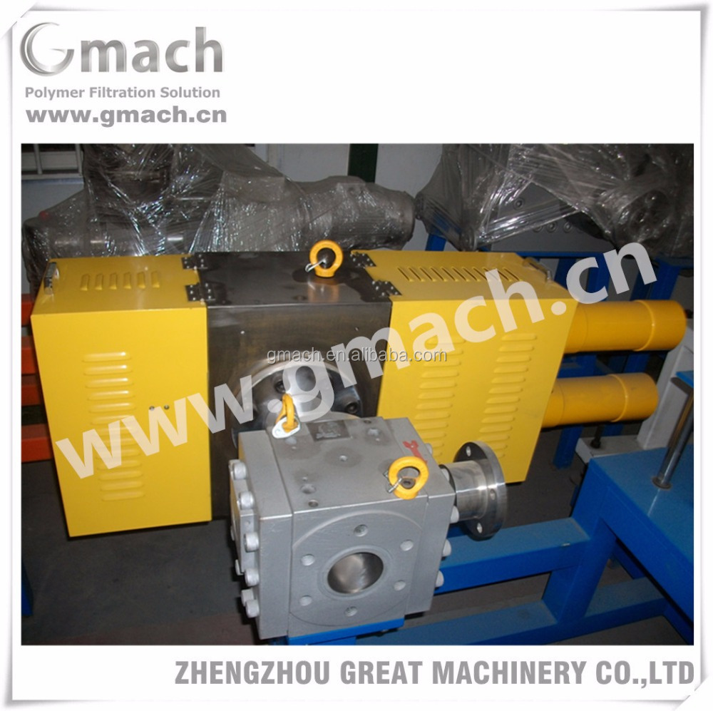 Double piston screen changer for Waste PP/LDPE/PE/HDPE plastic granulating machine