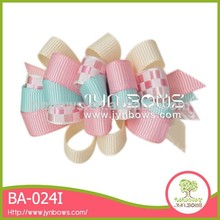 Wholesale baby fashion colorful cute design ribbon art hair clips