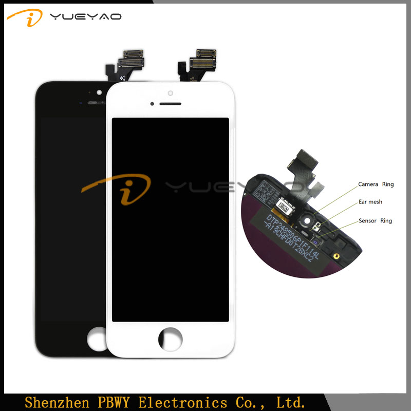 High Quality For iPhone 5 LCD Digitizer Complete Screen,For iPhone 5 Front Screen,For iPhone 5 LCD OEM