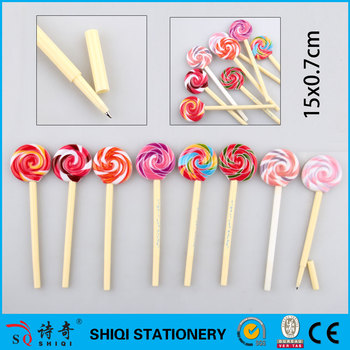 2016 Promotisuger pen onal cute lollipop ball pen
