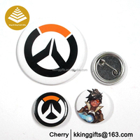 Round shape the tin blank button badge wholesale custom metal pin badge with your own design