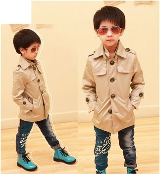 Boys' stand collar windcoat factory wholesale OEM