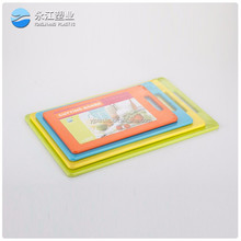 wholesale cutting board wooden knife yellow pp plastic chopping board lightweight plastic board