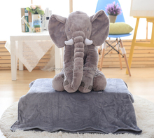 elephant plush pillow / baby elephant pillow / plush elephant pillow Grey Color