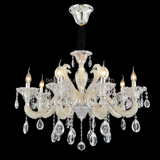Pendant Crystal Silver Chandelier Lighting For Low Ceiling , Silver