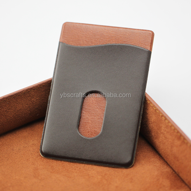 2016 Customized Faux Leather Mobile Phone Card Holder with Sticker