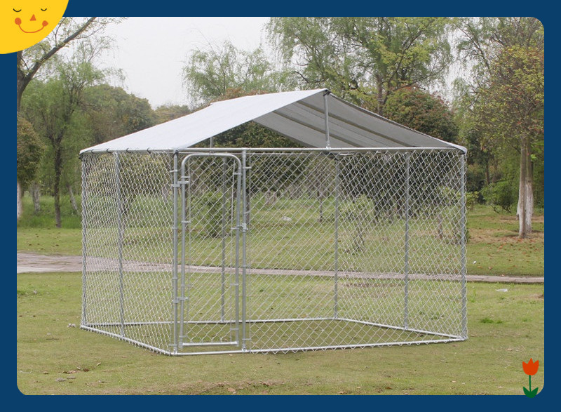 Chain Link Dog Kennel And Runs Wire Outside Backyard Galvanized Pet Cage Fence