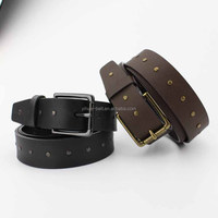 Newest Products Popular Fashion with Rivet Leather Belt for Men