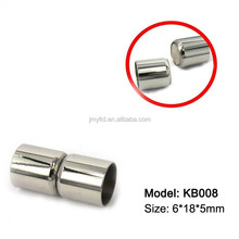 5mm Column Stainless Steel Magnetic Clasps Jewelry Findings Great Strong Magnets To Connect Necklaces/Bracelets