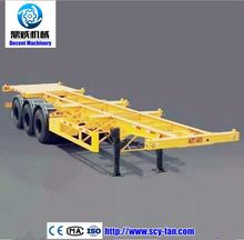 30 Ton Low Flatbed Semi Trailer Dimensions/China 3 Axle Flat Bed Trailer Truck For Sale