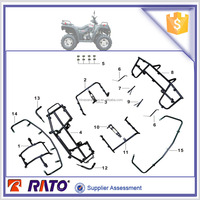 ITALIKA ATV250 spare parts luggage carrier and fender