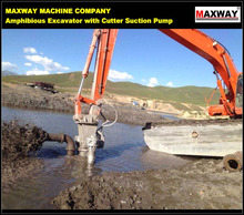 MAXWAY 6 Inch Dredging Cutter Suction Pump for Amphibious Excavator, CE / ISO:9001