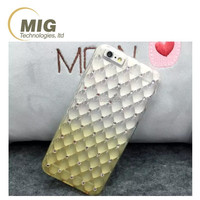 For iphone 6s plus TPU Gradient Blue color with diamond and Quilting pattern For iphone 6 tpu case
