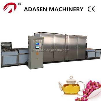 Industrial microwave drying and distilling machine for rose