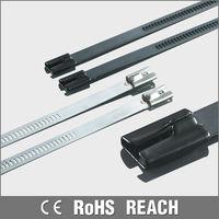Polyamide coated stainless steel loop tie wire