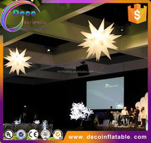New design 3d star led decoration inflatable for event