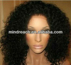 HOT sale short curly natural African American full lace wigs, accept escrow payment