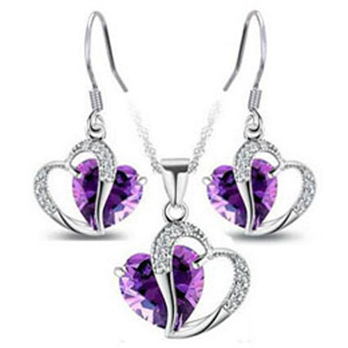 Heart Set Jewelry Women Set