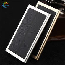 Aluminium Alloy Material 1.5W Solar Panel Ultra Thin Power Bank Slim Type10000mAh