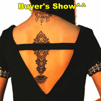 Waterproof Black Removable Temporary Tattoo DIY 3D Decorative pattern Sticker