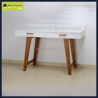 make up table dressing table w 2 drawer matte white
