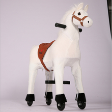 Funny riding toys!! EN71 ASTM Best Chinese toy horse on wheels, plush horse ride-on, great giddy up horse