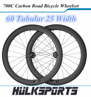 High stiffness carbon wheelset 60mmx25mm tubular rims for road bike 120kgs rider 700c carbon wheelset 3K/UD matte/glossy