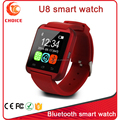 2015 Shenzhen factory supply bluetooth u8 plus smart watch with anti-lost function