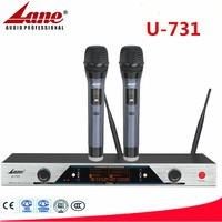 Professional UHF handheld wireless microphone for stage performance